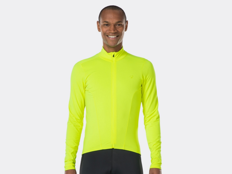 Bontrager Trikot Velocis Thermal LS S Visibility Yellow